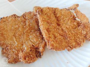 ▲原PO分享杏鮑菇的另類做法,吃起來有雞排的口感。(圖/翻攝自《家常菜》)