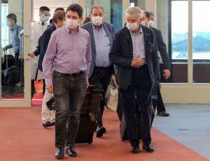 ▲法國參議院友台小組李察(Alain Richard)主席訪問團抵台。(圖/中央社提供)