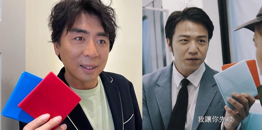 ▲梁赫群(左圖)和大飛都扮成「台版孔劉」,模仿韓劇《魷魚遊戲》玩畫片。(圖/翻攝梁赫群、大飛FB)