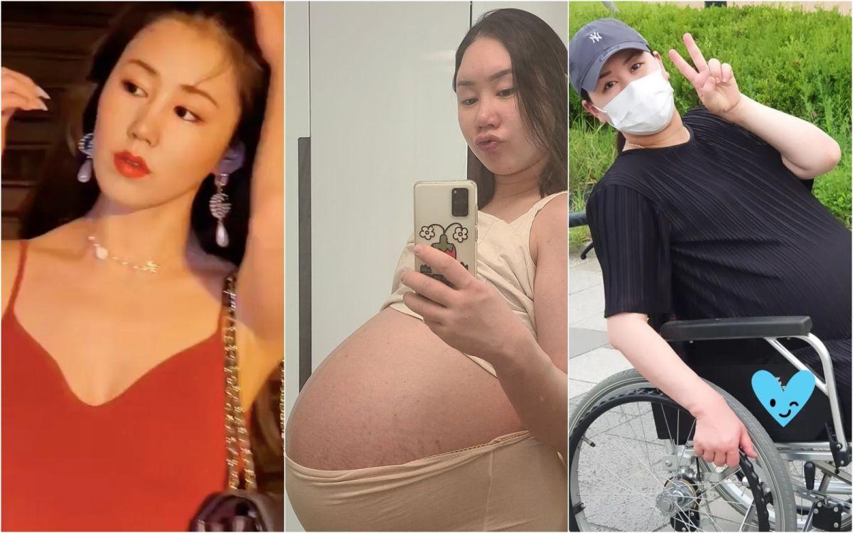 女星懷3胞胎體重破百 走10分鐘動不了「輪椅救援」