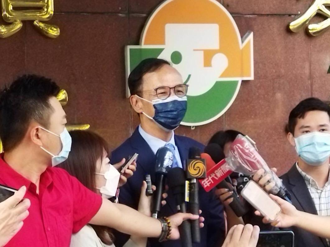 ▲國民黨主席朱立倫今日批評基進黨要為三零立委提告,是浪費司法資源。(圖/國民黨提供)