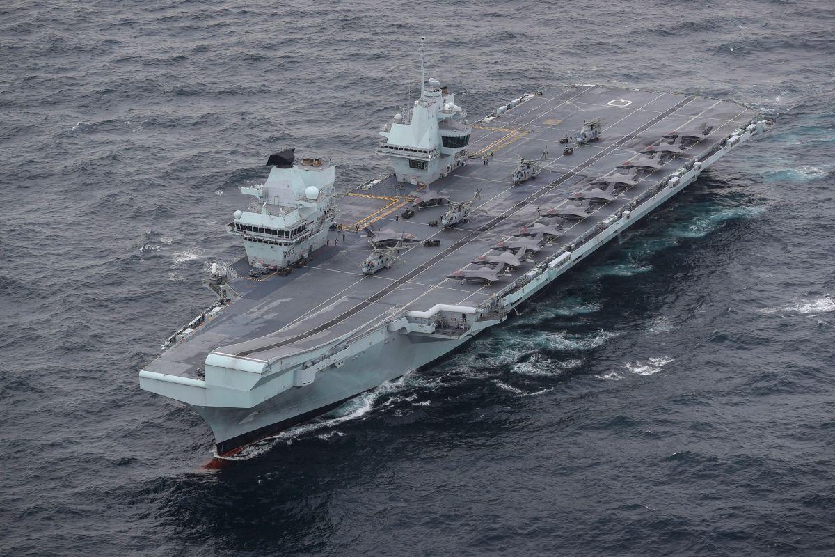 ▲英國海軍伊麗莎白女王號航空母艦打擊群正在南海巡航。資料照。(圖/英國皇家海軍)