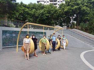 ▲大新竹街頭近來出現許多創意看板,出自一群竹科媽媽的巧思。(圖/竹科媽媽吳小姐提供)