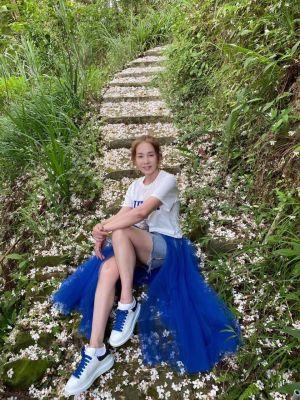 ▲周丹薇擁有嫩白大長腿。(圖/周丹薇臉書)