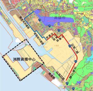 ▲小港沿海路貨櫃車專用道可望於2023年2月提前完工通車。(圖:立委賴瑞隆辦公室提供)