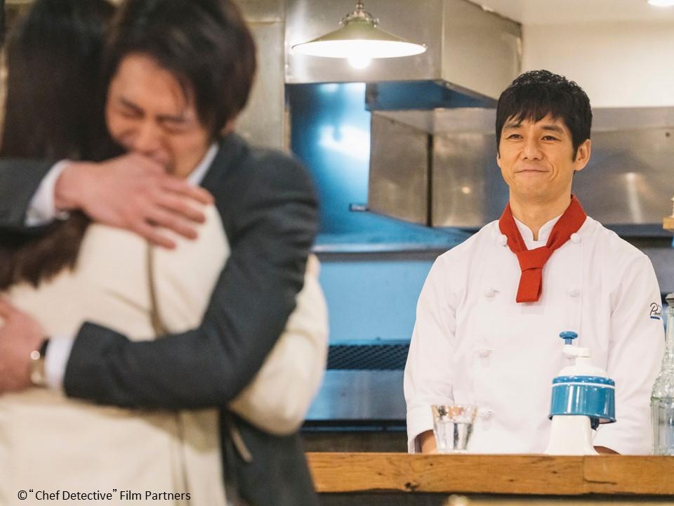 ▲西島秀俊(右)劇中是愛管閒事的名廚。(圖/WAKUWAKU JAPAN)