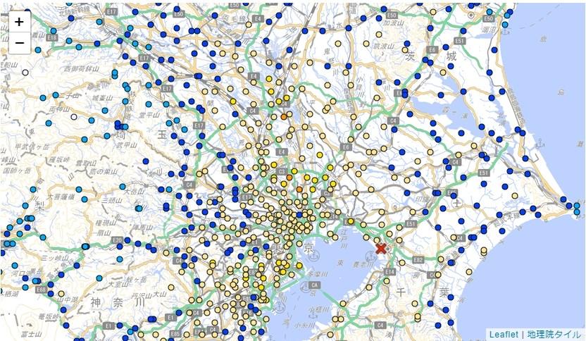 ▲日本關東地區發生規模6.1強震,震央位於千葉縣西北部。(圖取自日本氣象廳網頁jma.go.jp)