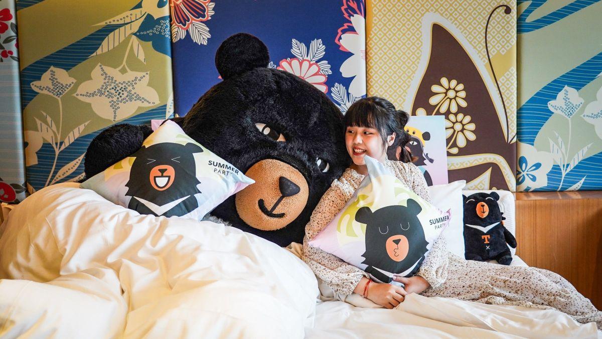 ▲中市10家旅宿業者合作推出「喔熊主題套房」加碼優惠圖/參山處提供2021.10.8)