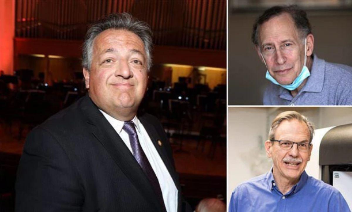 ▲美國知名藥廠莫德納的3位創辦人,阿費揚(左)、蘭格(右上)、斯普林格(右下)今年首度被列入美國400大富豪榜。(圖/翻攝自每日郵報)