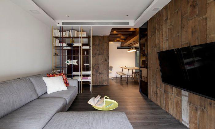 ▲小坪數採開放空間可以不同的天花板規劃來界定不同空間用途。(圖/雅浩提供)