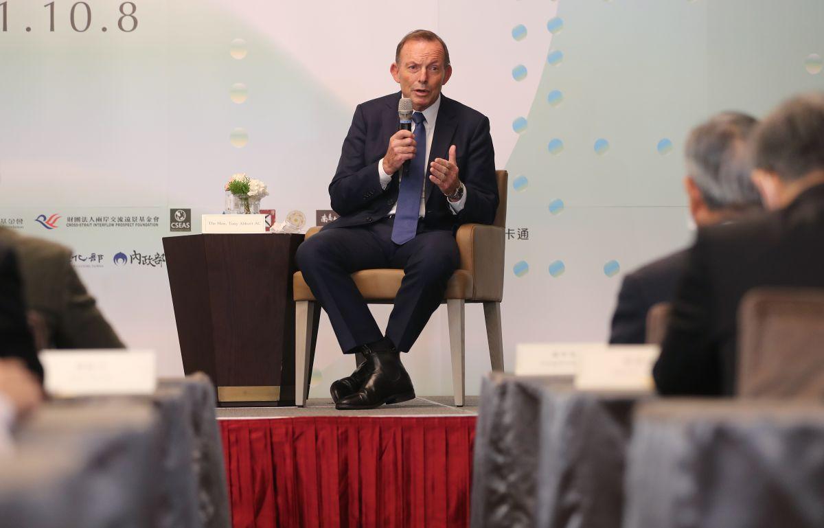 ▲澳洲前總理艾伯特出席玉山論壇。(圖/中央社提供)
