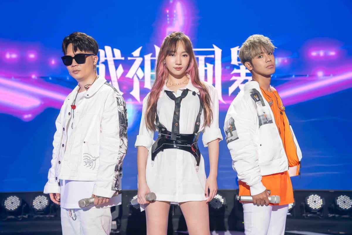 ▲鼓鼓(右起)、吳卓源、蕭秉治因為遊戲主題曲合體。(圖/TVBS提供)