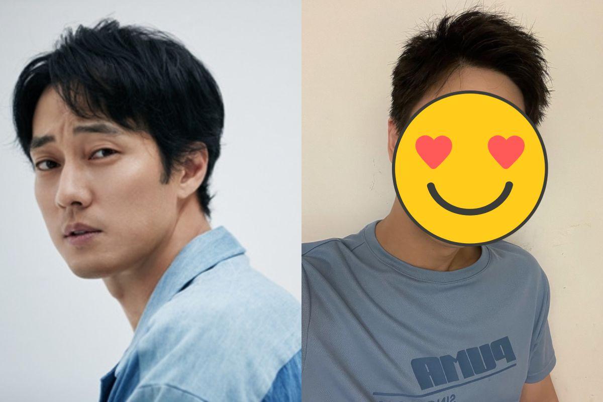 ▲KIM(右)染新髮撞臉韓國男神蘇志燮。(圖/微博、KIM京燁臉書)