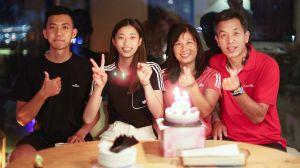 ▲東奧跆拳道國手「國民女友」羅嘉翎歡慶20歲生日。(圖/Charles Sports提供)