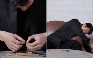 ▲魏嘏雋折破糖餅。(圖/The Swoon YouTube)