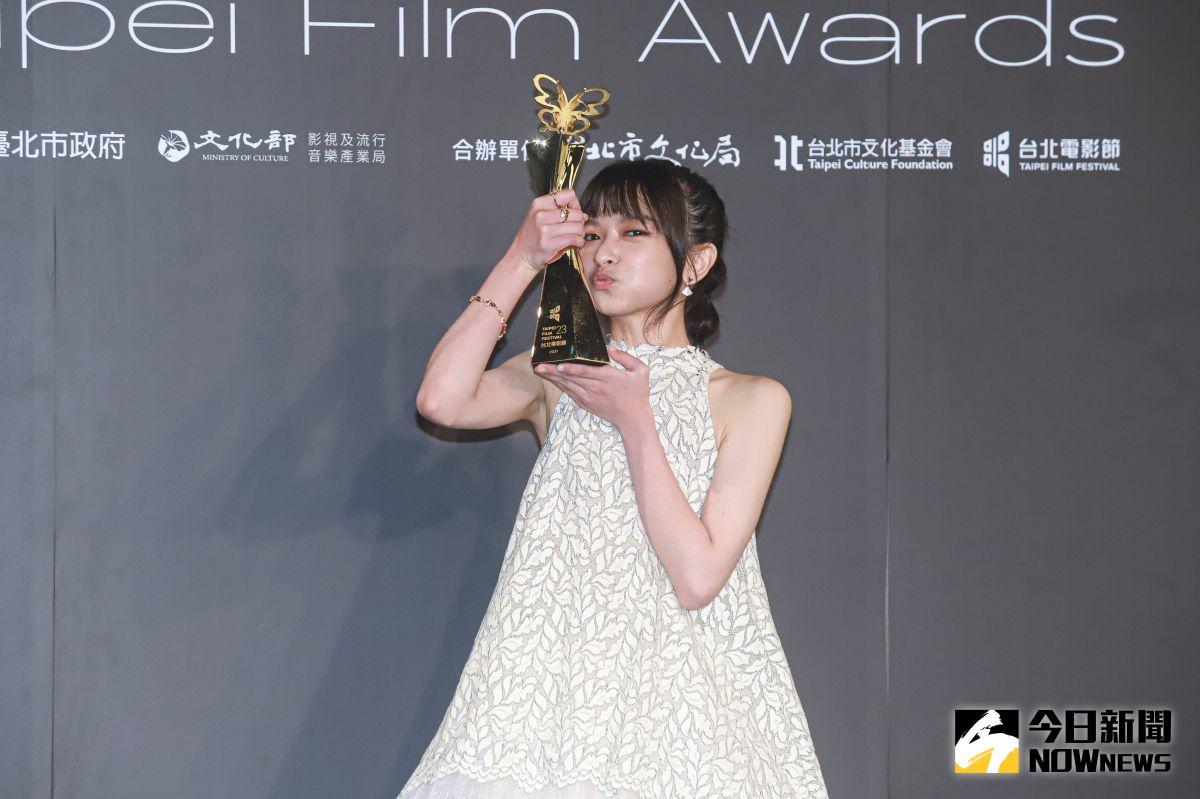 ▲陳姸霏勇奪第23屆台北電影獎最佳新人獎。(圖/記者葉政勳攝 , 2021.10.09)