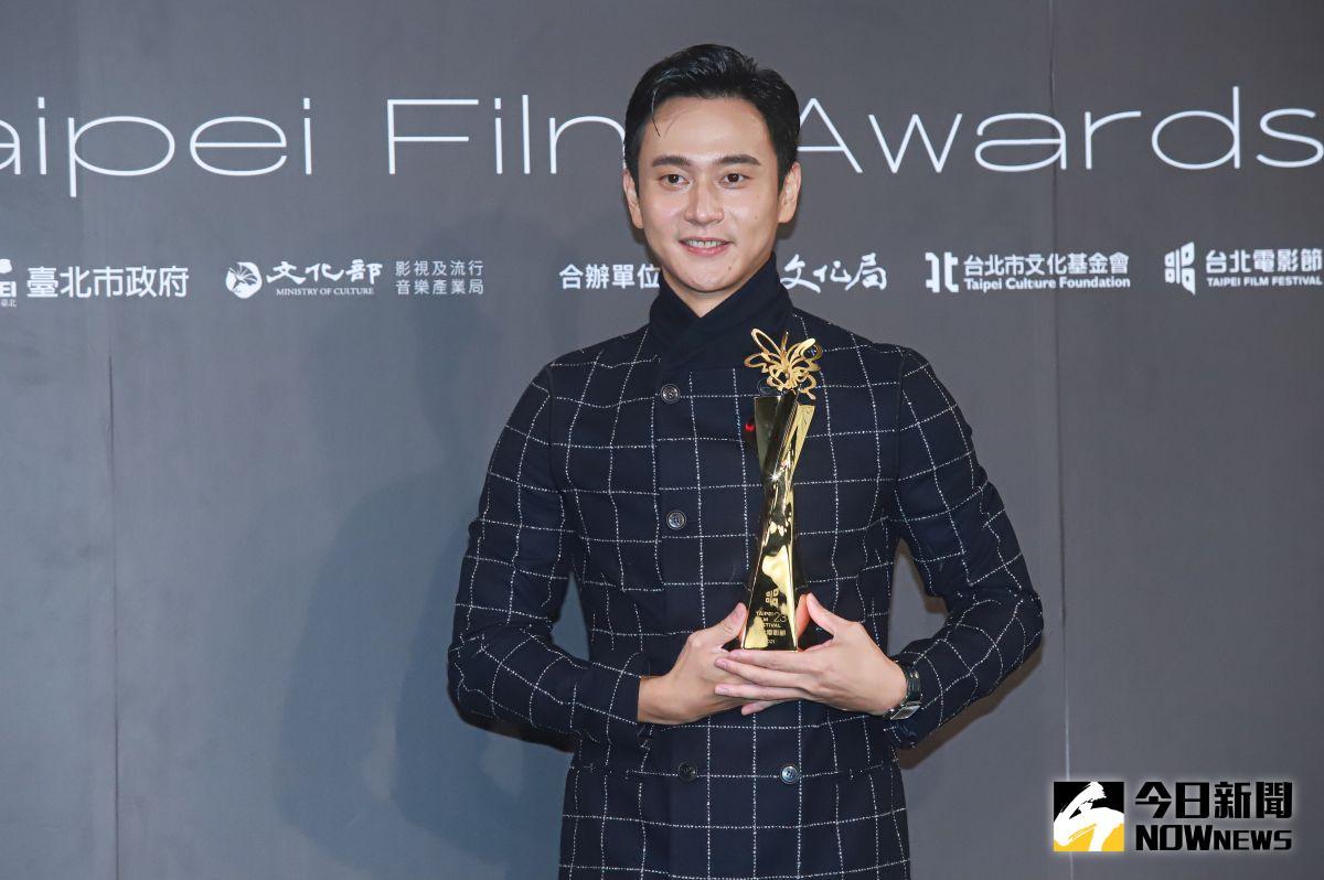▲劉冠廷勇奪第23屆台北電影獎最佳男配角獎。(圖/記者葉政勳攝 , 2021.10.09)
