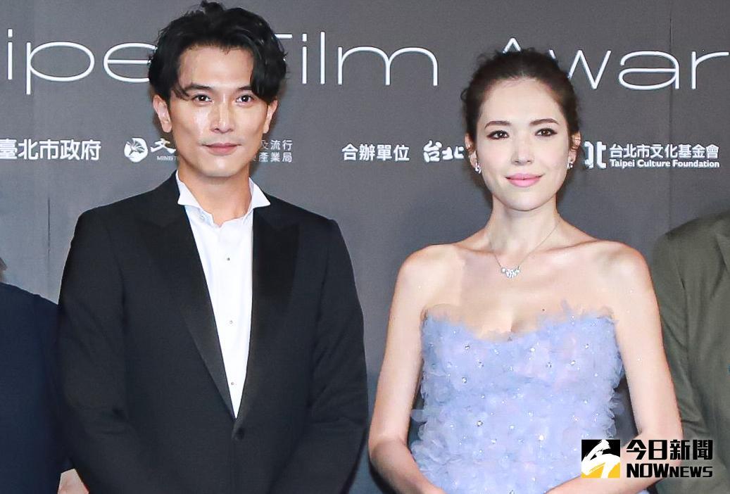 ▲邱澤(左)和許瑋甯共同出席台北電影獎頒獎典禮,彼此沒有太多交集。(圖/記者葉政勳攝 , 2021.10.09)