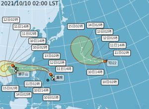 ▲氣象局公布颱風最新動向。(圖/翻攝氣象局網站)