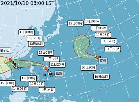圓規颱風來襲?氣象局:預估今晚8點發海警