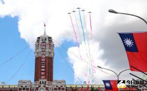 ▲110年國慶大典,空軍雷虎小組衝場。(圖/記者葉政勳攝,2021.10.10)