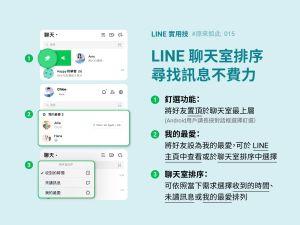 ▲LINE分享了3大實用密技。(圖/翻攝自《LINE台灣官方BLOG》)
