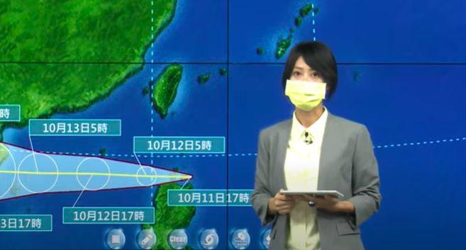 ▲氣象局指出,「圓規」帶給台灣風雨、浪的影響不亞於有發布陸上警報的颱風,提醒民眾需要特別留意。(圖/翻攝氣象局直播)