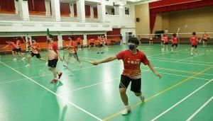 ▲大同高中羽球隊球員積極訓練。(圖/中華羽協提供)