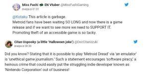 ▲玩家認為外媒報導《密特羅德:生存恐懼》模擬器是宣傳盜版