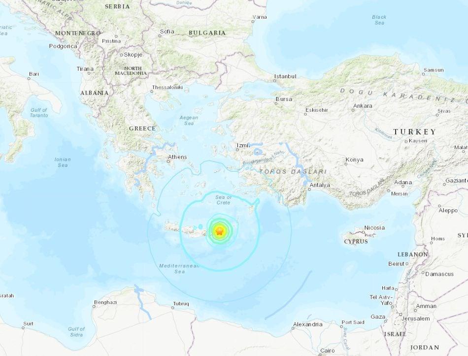 規模6.3強震襲希臘克里特島 尚未傳災情