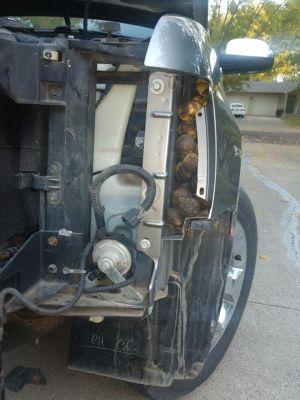 ▲車子的縫隙裡都塞滿胡桃!(圖/FB帳號Bill Fischer)