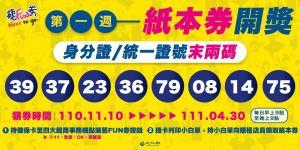 ▲紙本券中籤號碼39、37、23、36、79、08、14、75。(圖/文化部提供)
