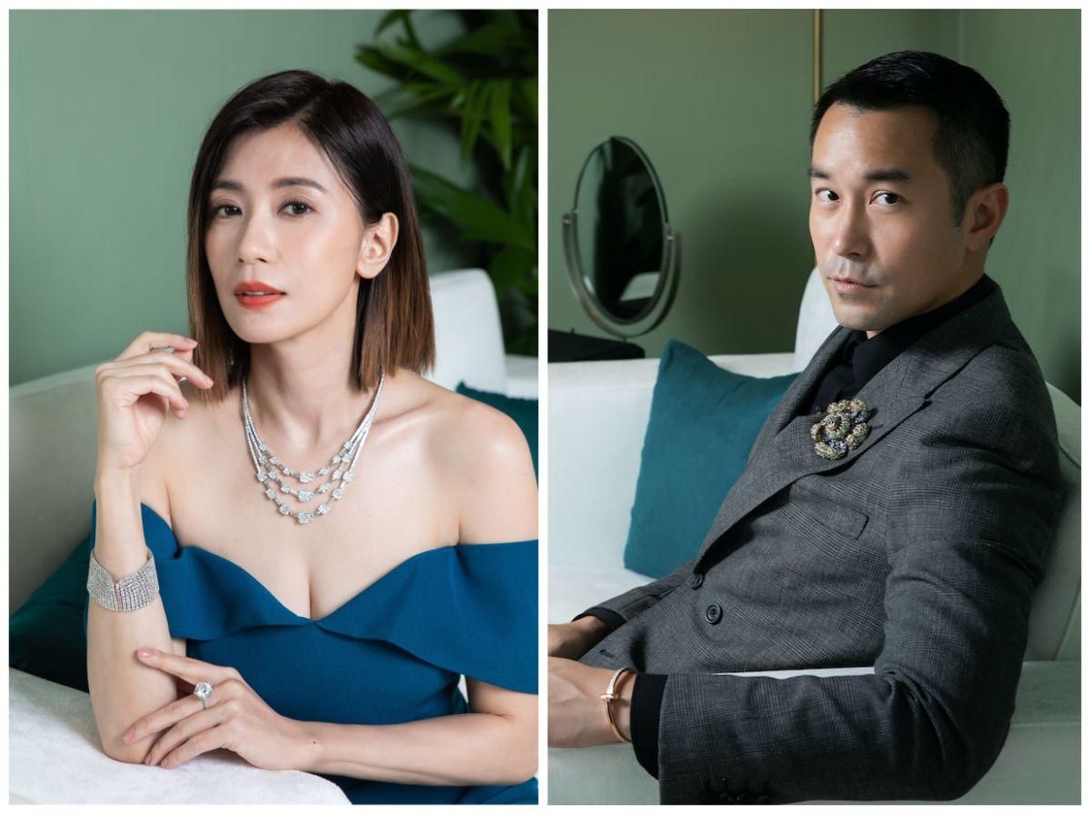 ▲賈靜雯(左圖)、張孝全一起出席知名珠寶品牌活動。(圖/Tiffany提供)