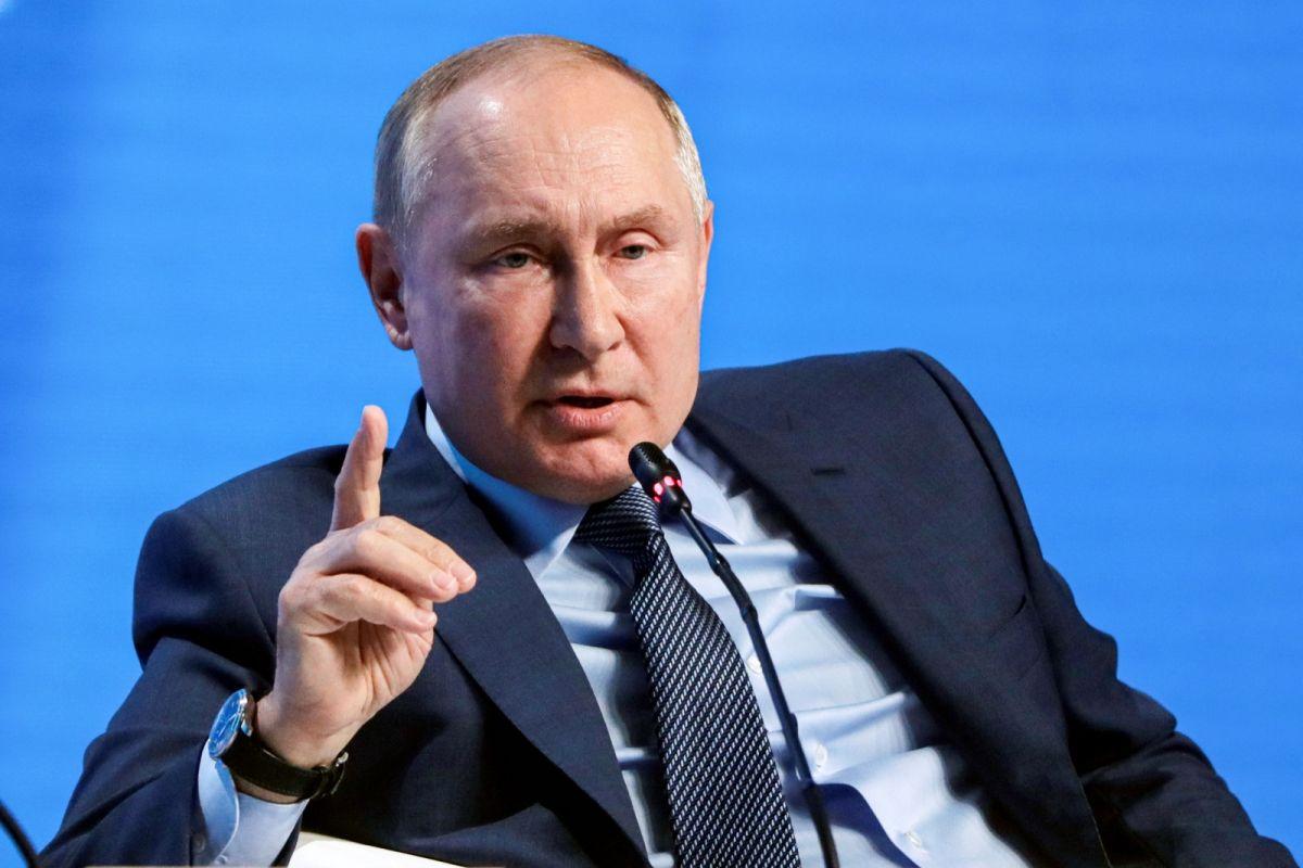 ▲俄羅斯總統蒲亭13日出席俄國能源週主題論壇全會。(圖/美聯社/達志影像)