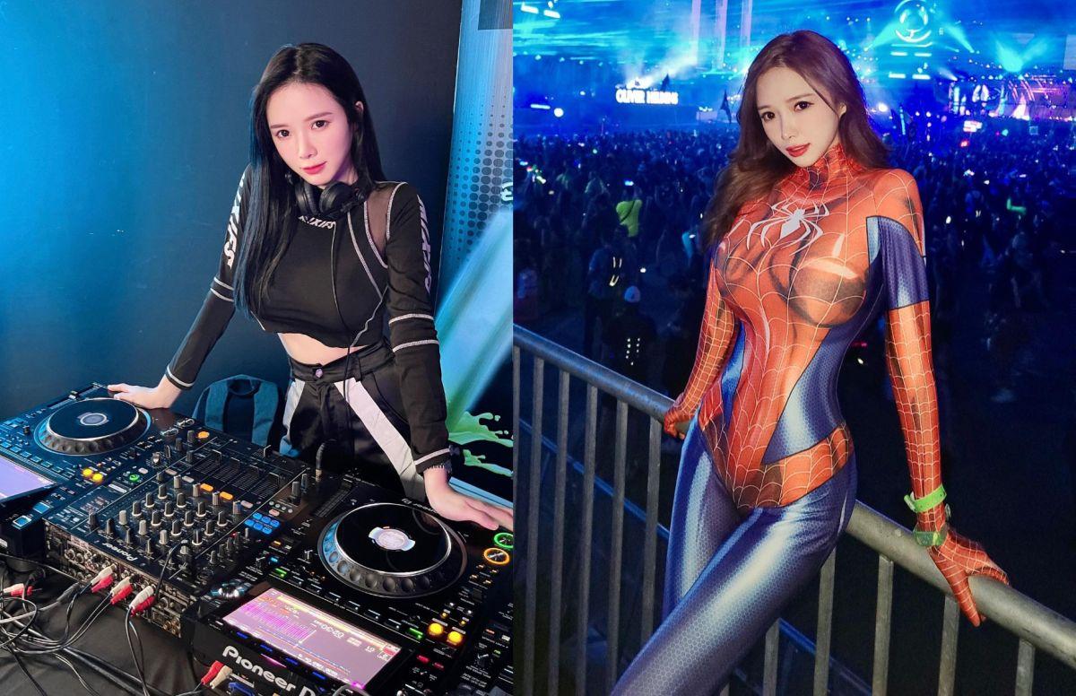 最辣DJ扮蜘蛛人迎戰萬聖節 「全身包緊緊」洩惹火曲線